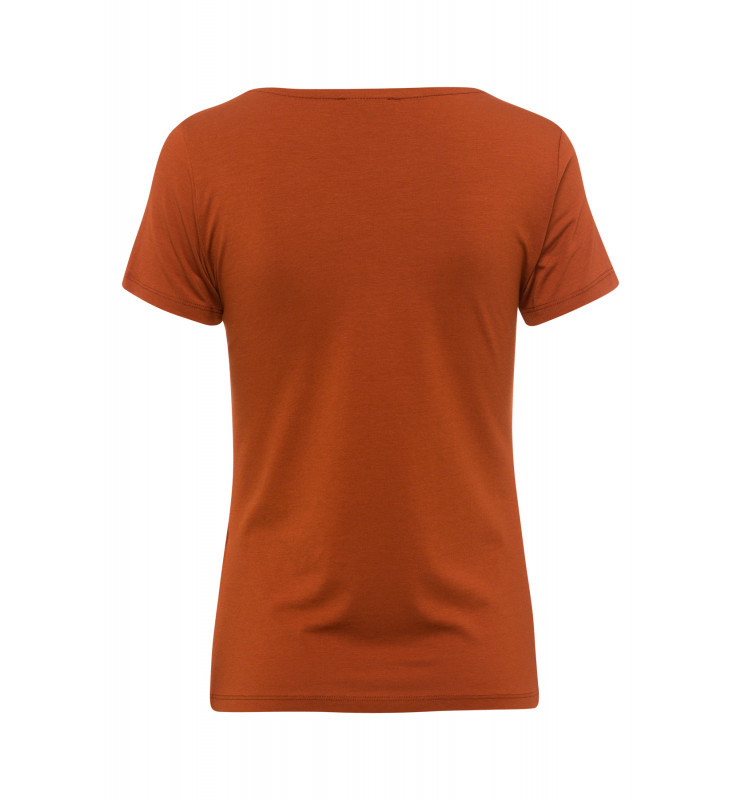 T-Shirt, V-Neck, terracotta 01080074-0473 2