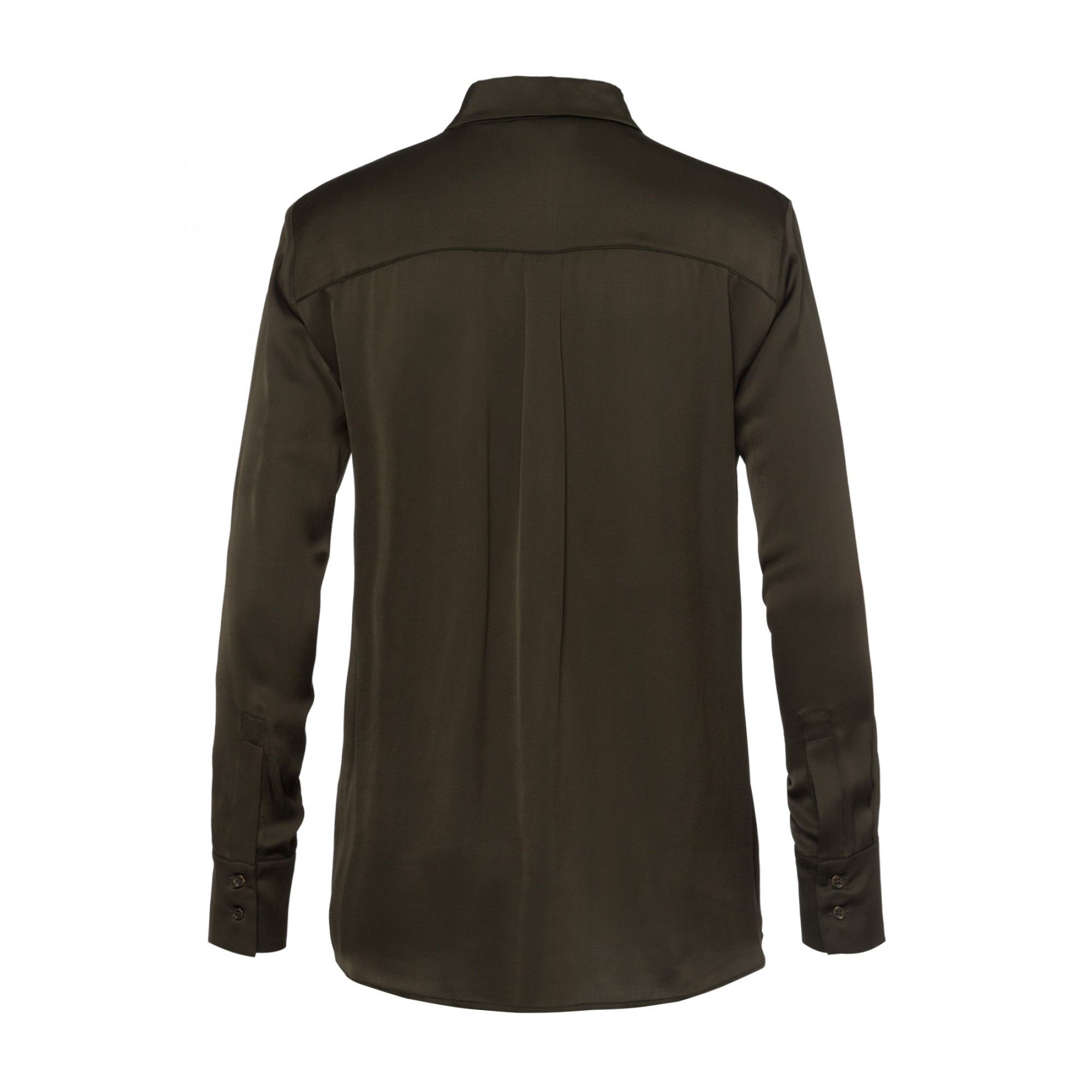 Satinbluse, dark olive 01082056-0678 2