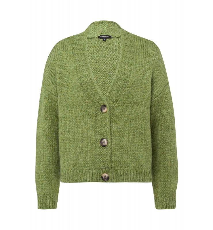 Cardigan, leaf green 01091222-0649 1