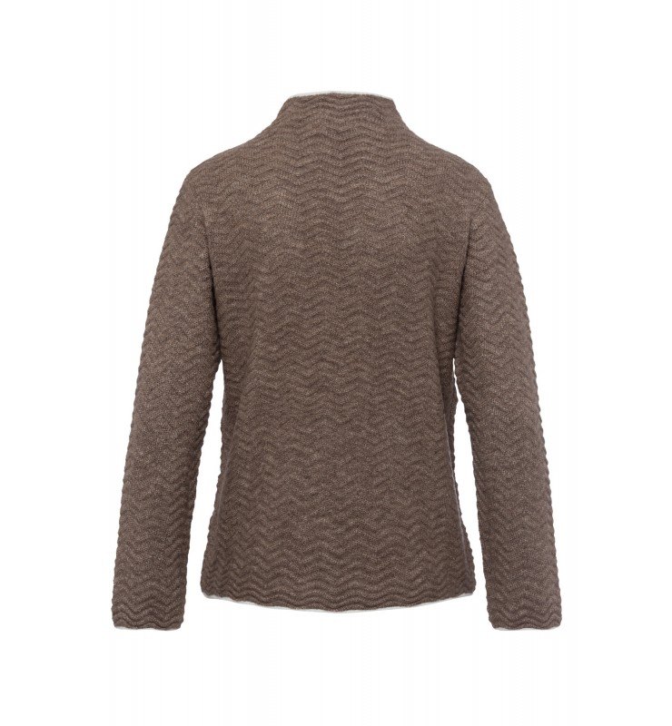 Pullover, Wellenstrick, taupe 01641096-0220 2