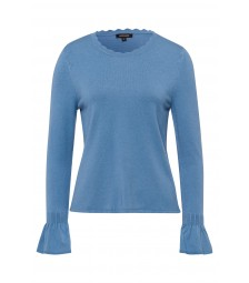 Feinstrick-Pullover, dusty blue