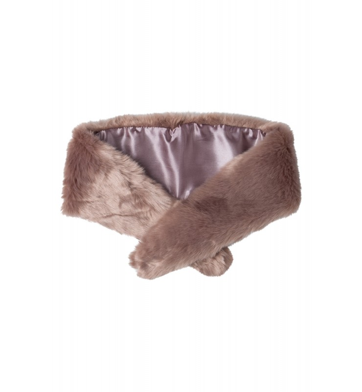 Fake-Fur-Kragen, taupe 85658080-0800 1