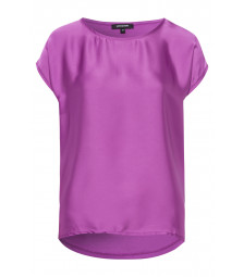 Shirt mit Satinfront, bright purple
