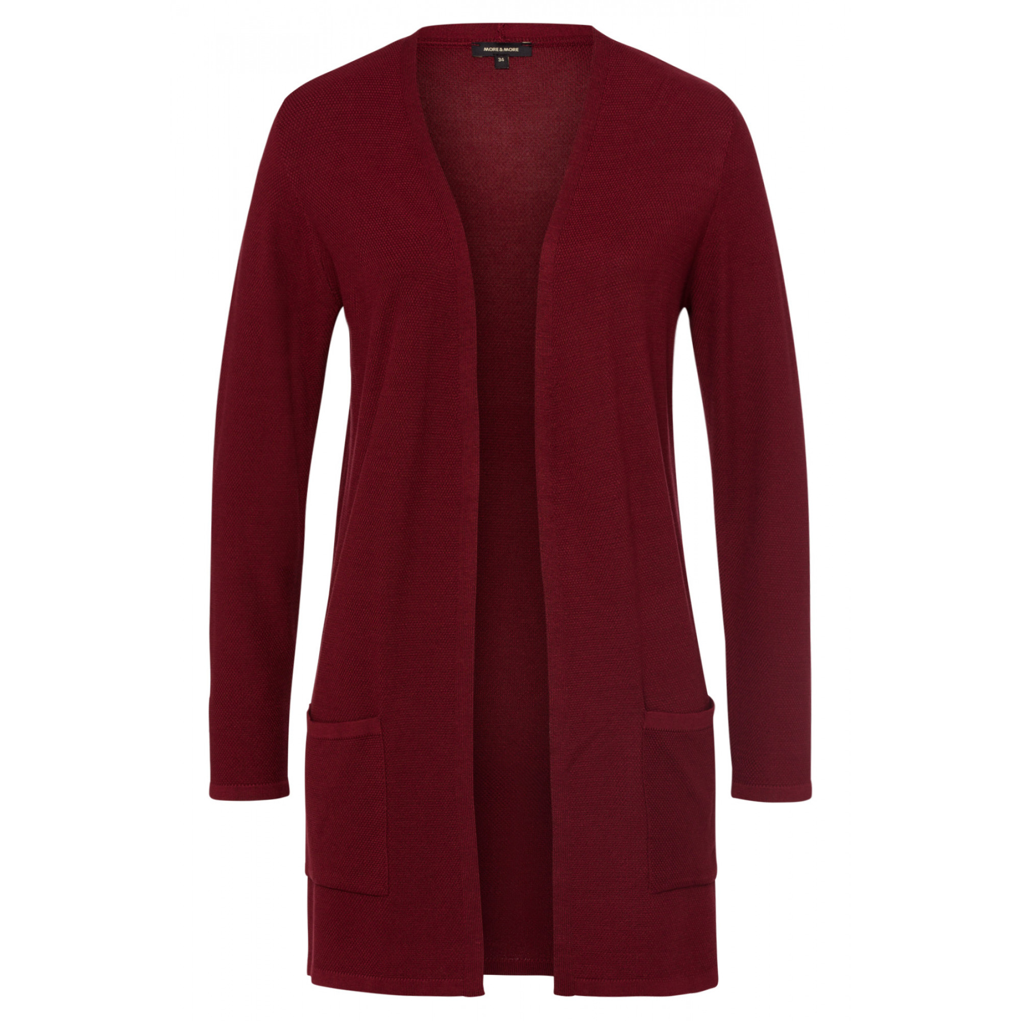 leichter Long-Cardigan, wine red 91081261-0548 1
