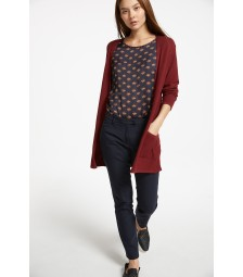 leichter Long-Cardigan, wine red 91081261-0548