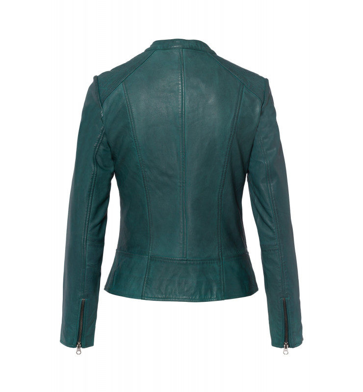 Lederjacke, emerald green 91098000-0655 2