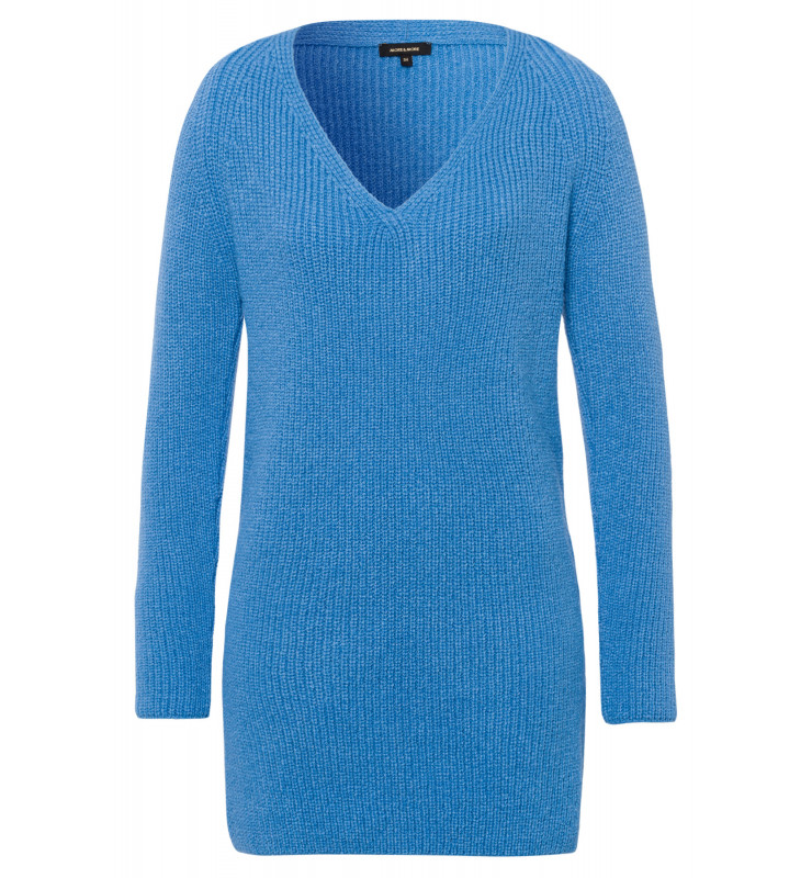 Long-Pullover, Rippe, winter blue 91641088-0329 1
