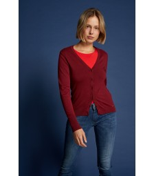 Cardigan, wine red 91961512-0548